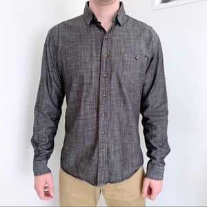 Frank & Oak gray button down